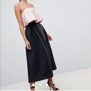 ASOS High Waisted Scuba Midaxi Prom Skirt